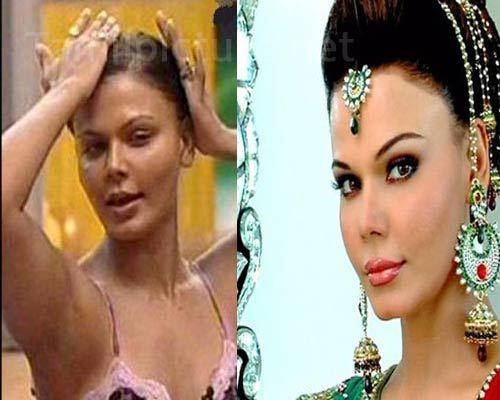 Rakhi-Sawant-With-Without-Makeup