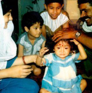 anushka sharma childhood image