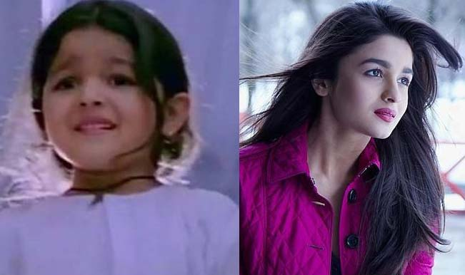 childhood image of alia bhatt