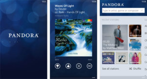 pandora app for movie watching on android