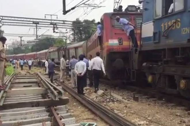 Ranchi Rajdhani Express derails in Delhi One Person Injured
