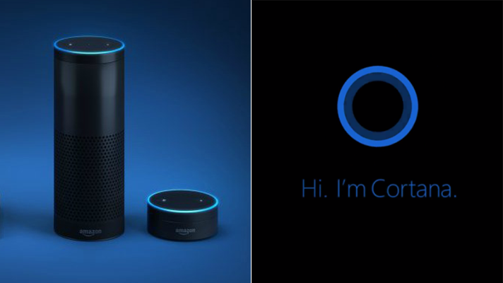Microsoft Cortana and Amazon Alexa